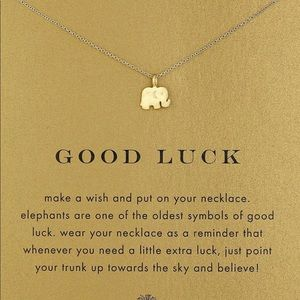 Jewelry - Gold Elephant 'Good Luck' Pendant
